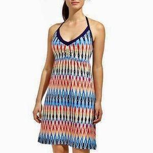 🆕 Athleta Ikat Print Halter Front Sundress Size L